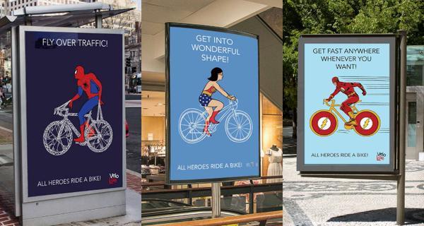 Süper kahramandan daha iyi ne var? Bisiklet süren süper kahraman