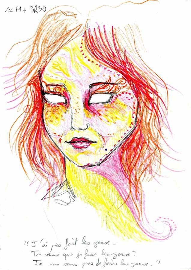 9 saat vakit geçirerek LSD'nin kendi üzerindeki etkisini çizdi