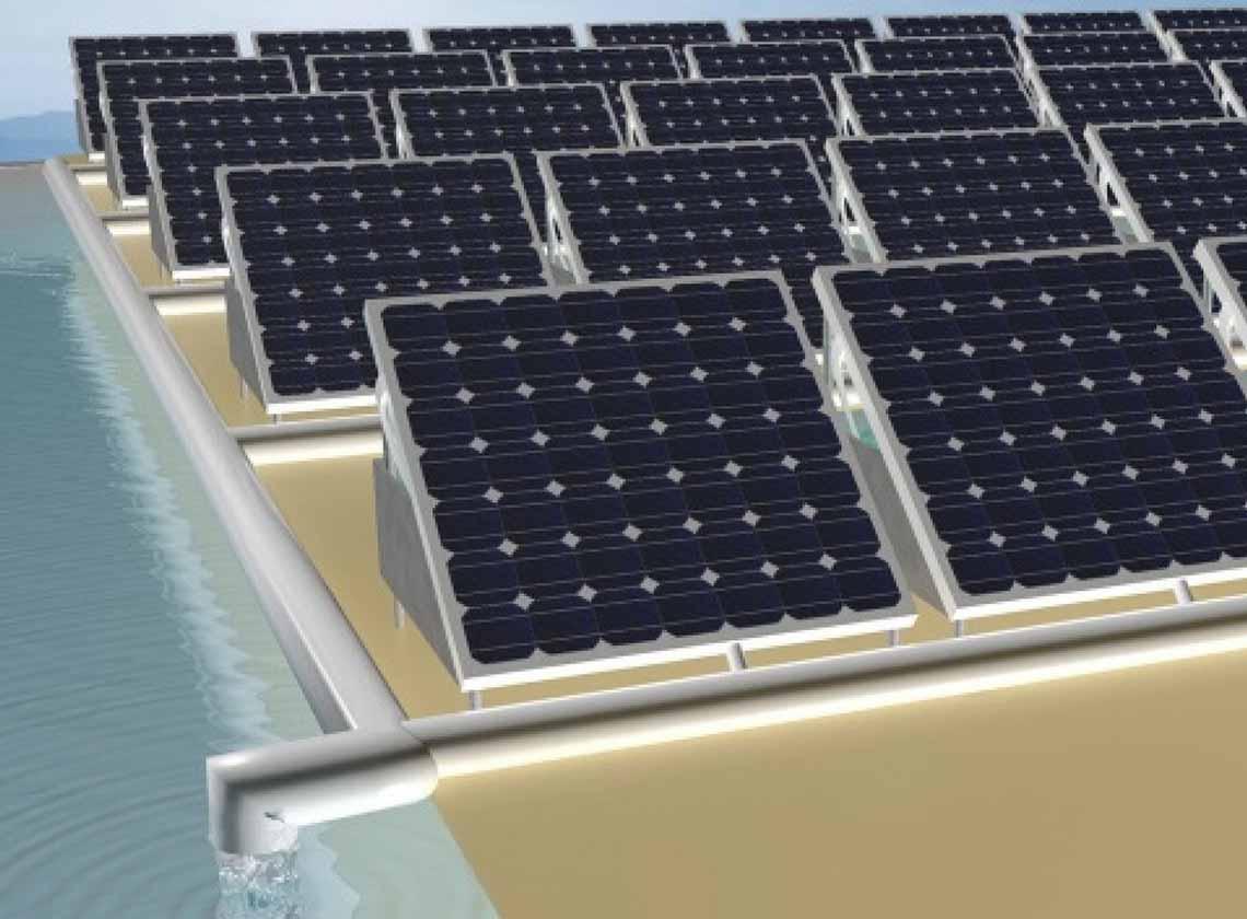 Güneş paneli hem enerji üretiyor hem de suyu temizliyor