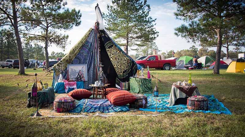 Festival çadır alanı