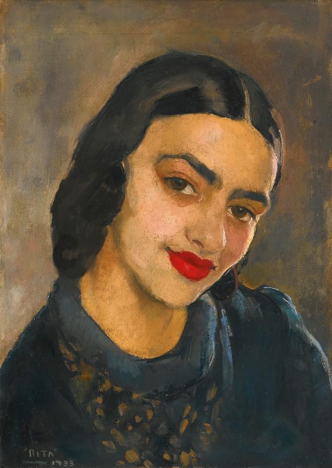 Amrita'nın kendi portrei