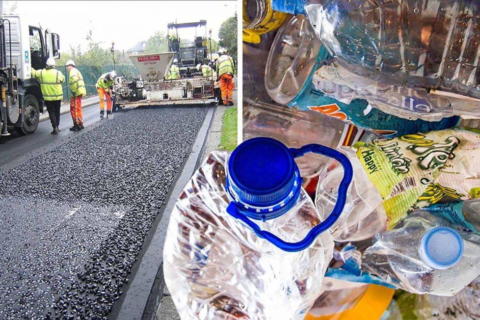 Bu şirket asfalt yapımında plastik atıkları kullanıyor