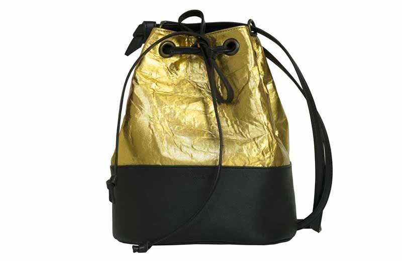 Camille Kinley Pinatex Bucket Bag - Gold