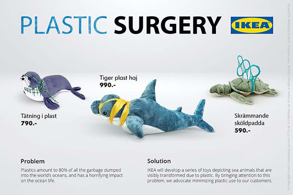 IKEA oyuncakları plastik kirliliği hakkında güçlü mesajlar veren bir kampanyaya dönüştü